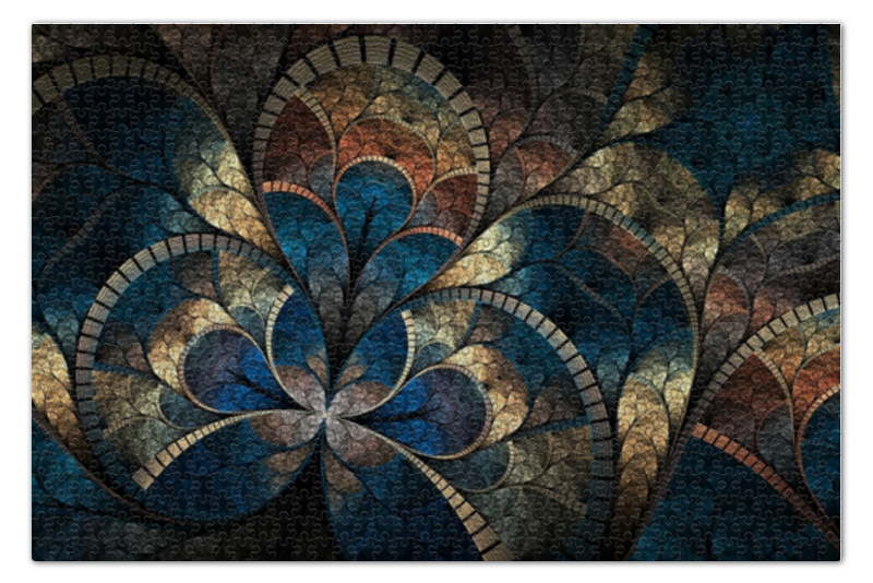 Пазл 73.5 x 48.8 (1000 элементов) Printio Волнистый узор пазл 73 5 x 48 8 1000 элементов printio сад земных наслаждений