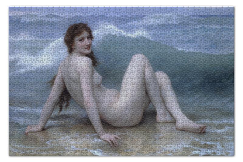 Пазл 73.5 x 48.8 (1000 элементов) Printio Волна (картина бугро) пазл 73 5 x 48 8 1000 элементов printio волна