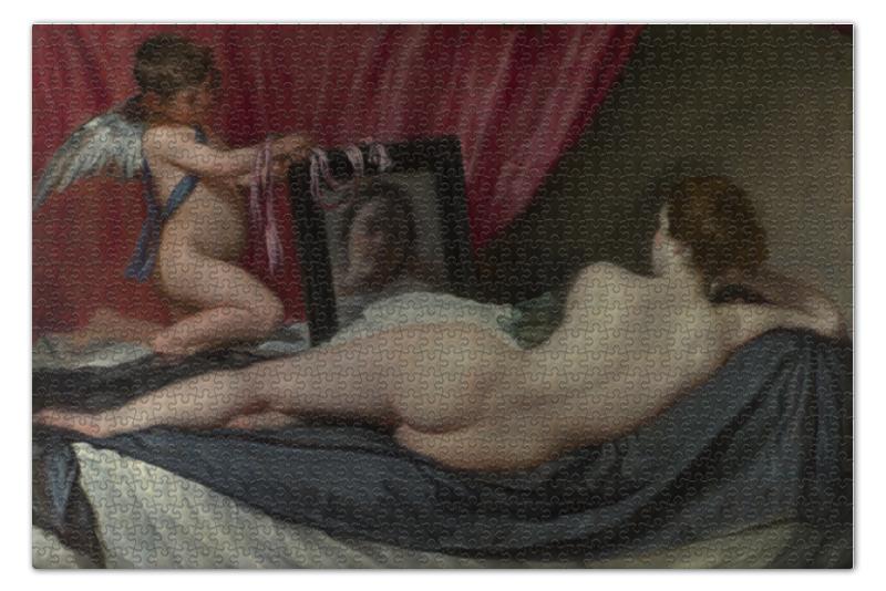 Фото - Пазл 73.5 x 48.8 (1000 элементов) Printio Венера с зеркалом (картина веласкеса) пазл 73 5 x 48 8 1000 элементов printio мастерская художника картина яна вермеера