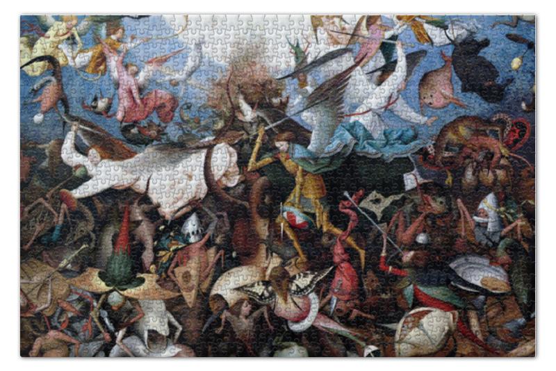 Пазл 73.5 x 48.8 (1000 элементов) Printio Падение мятежных ангелов (питер брейгель) пазл 73 5 x 48 8 1000 элементов printio детские игры питер брейгель