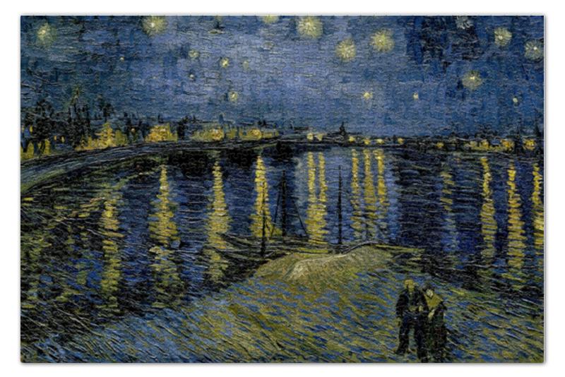 Пазл 73.5 x 48.8 (1000 элементов) Printio Звёздная ночь над роной (винсент ван гог) пазл 73 5 x 48 8 1000 элементов printio сад земных наслаждений