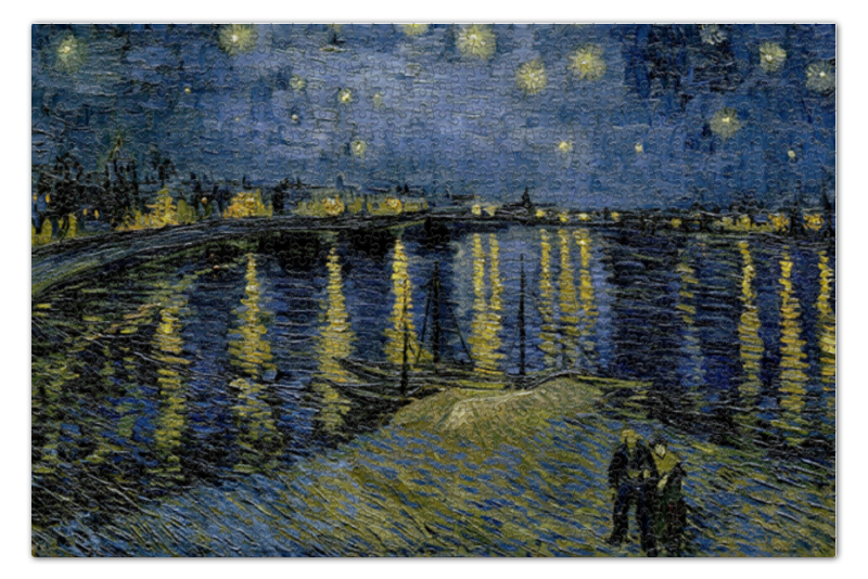 Printio Звёздная ночь над роной (винсент ван гог) пазл 73 5 x 48 8 1000 элементов printio добрый самаритянин винсент ван гог