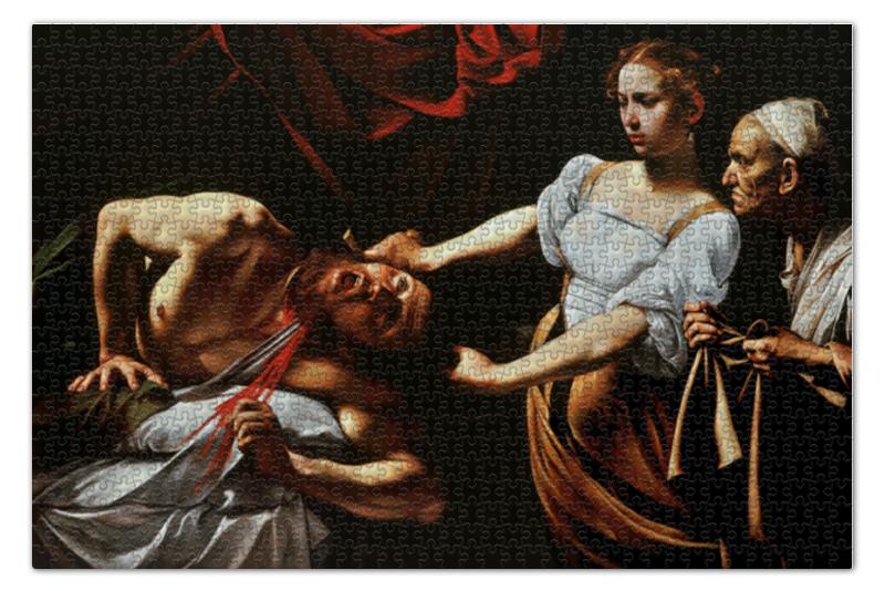 Пазл 73.5 x 48.8 (1000 элементов) Printio Юдифь и олоферн (картина караваджо) тарелка юдифь