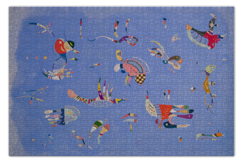 Пазл 73.5 x 48.8 (1000 элементов) Printio Синее небо (василий кандинский) пазл 73 5 x 48 8 1000 элементов printio points василий кандинский
