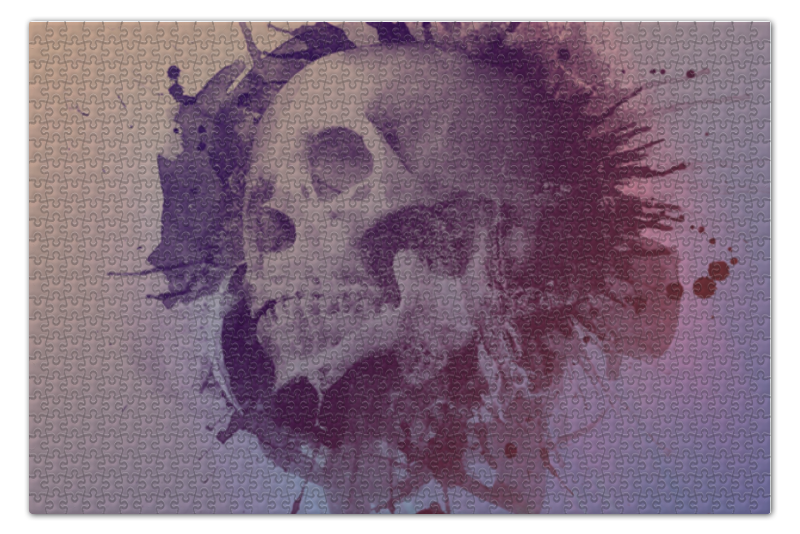 Пазл 73.5 x 48.8 (1000 элементов) Printio Splatter skull пазл 73 5 x 48 8 1000 элементов printio сад земных наслаждений