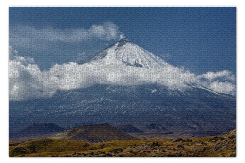 Пазл 73.5 x 48.8 (1000 элементов) Printio Камчатка, осенний пейзаж, извержение вулкана пазл 73 5 x 48 8 1000 элементов printio сад земных наслаждений