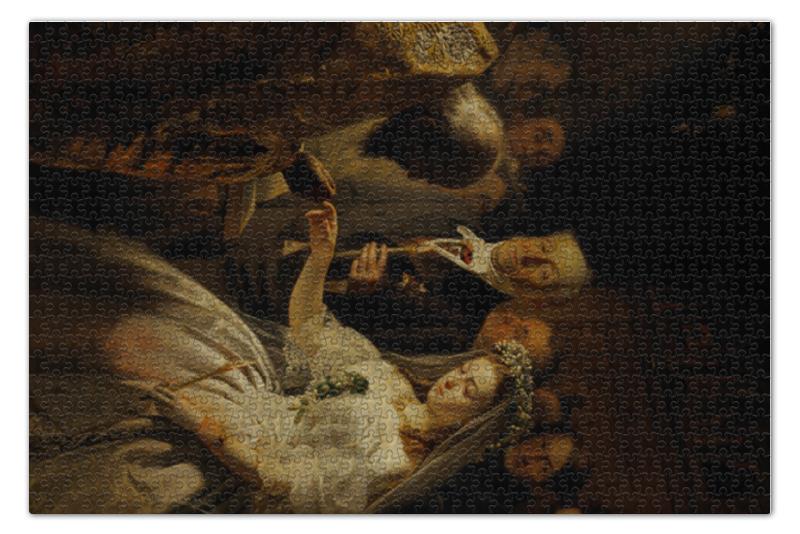 Фото - Пазл 73.5 x 48.8 (1000 элементов) Printio Неравный брак (картина пукирева) пазл 73 5 x 48 8 1000 элементов printio мастерская художника картина яна вермеера