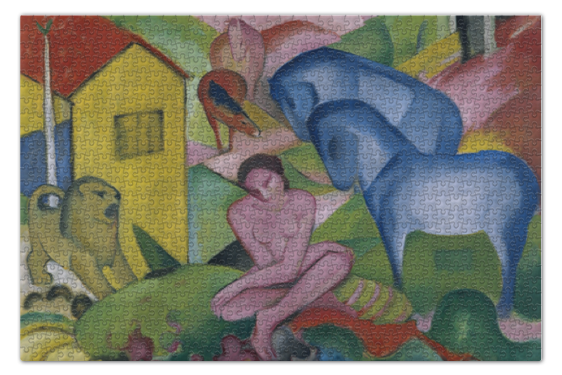 Пазл 73.5 x 48. (1000 элементов) Printio Мечта (франц марк)