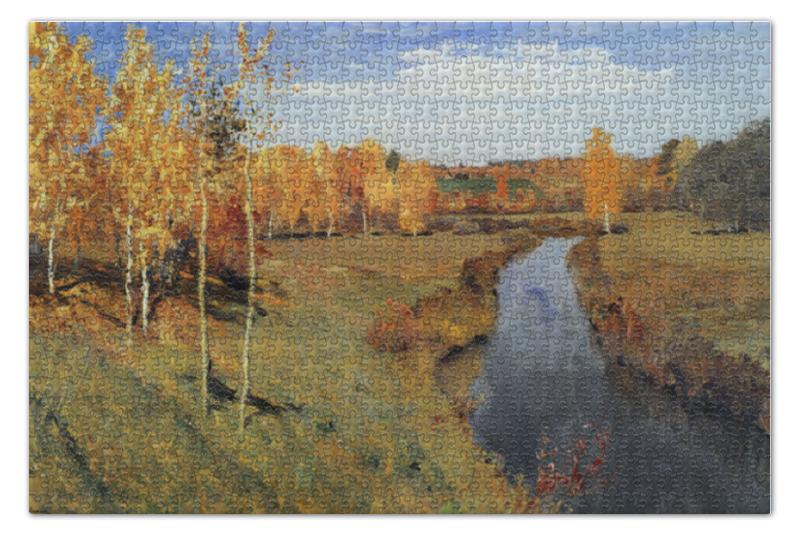 Пазл 73.5 x 48.8 (1000 элементов) Printio Золотая осень (картина левитана) пазл 73 5 x 48 8 1000 элементов printio сад земных наслаждений