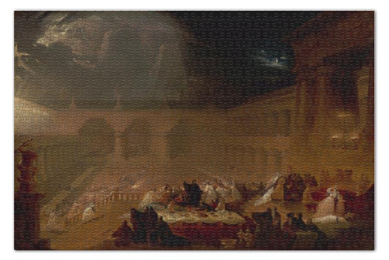 Пазл 73.5 x 48.8 (1000 элементов) Printio Пир валтасара (джон мартин) отсутствует толковая библия том v ветхий завет пророческие книги книга пророка даниила