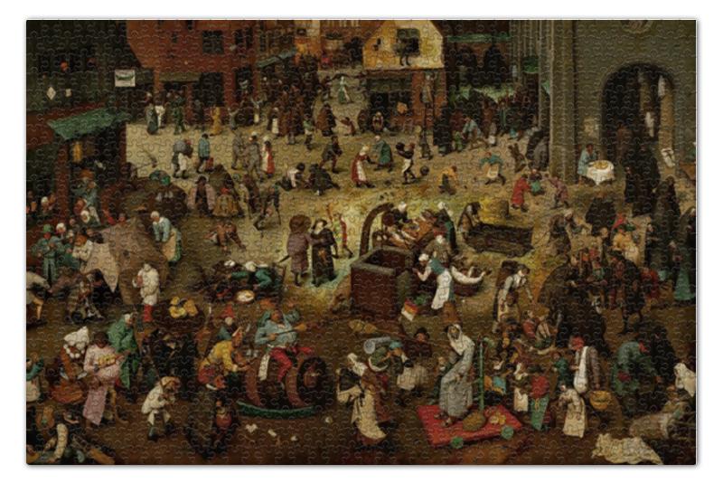 пазл 73 5 x 48 8 1000 элементов printio возвращение стада картина брейгеля Пазл 73.5 x 48.8 (1000 элементов) Printio Битва масленицы и поста (питер брейгель)