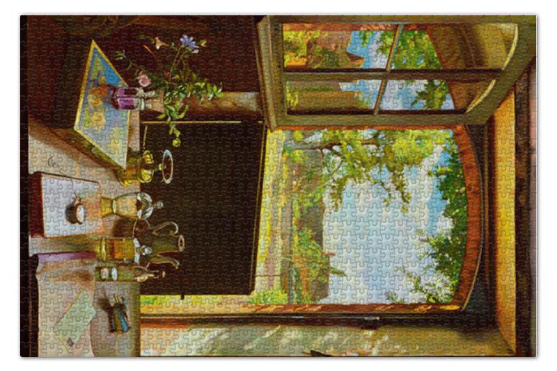 Пазл 73.5 x 48.8 (1000 элементов) Printio Открытая дверь в сад (картина сомова) чехол для iphone 6 глянцевый printio дама в голубом картина сомова
