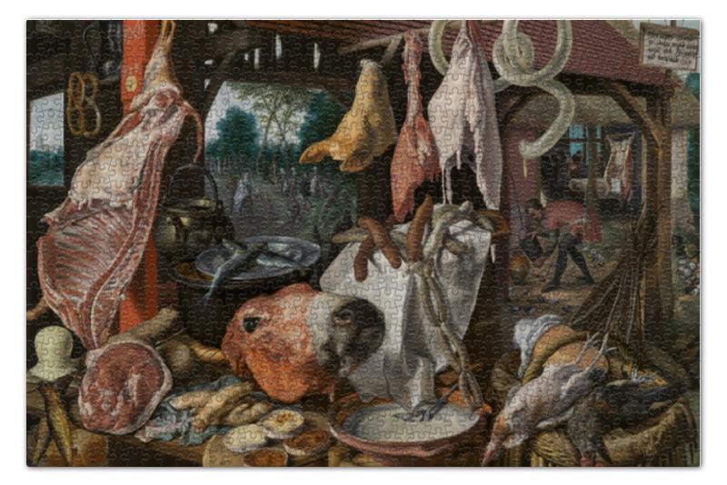 Пазл 73.5 x 48.8 (1000 элементов) Printio Мясная лавка со святым семейством краска для волос 5 36 морозный мокко perfect mousse