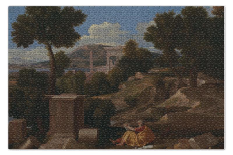 где купить Пазл 73.5 x 48.8 (1000 элементов) Printio Пейзаж со святым иоанном на патмосе по лучшей цене