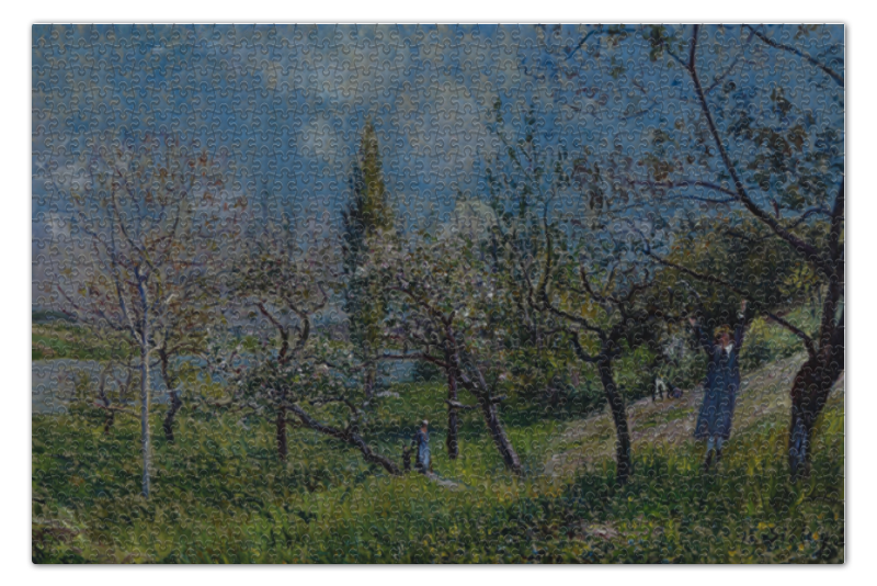 Пазл 73.5 x 48.8 (1000 элементов) Printio Фруктовый сад весной французский ежегодник 2009 левые во франции