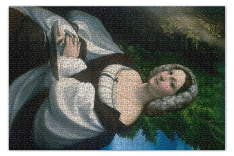 Пазл 73.5 x 48.8 (1000 элементов) Printio Портрет дамы (антонио да корреджо) пазл 73 5 x 48 8 1000 элементов printio сад художника в аржантее клод моне