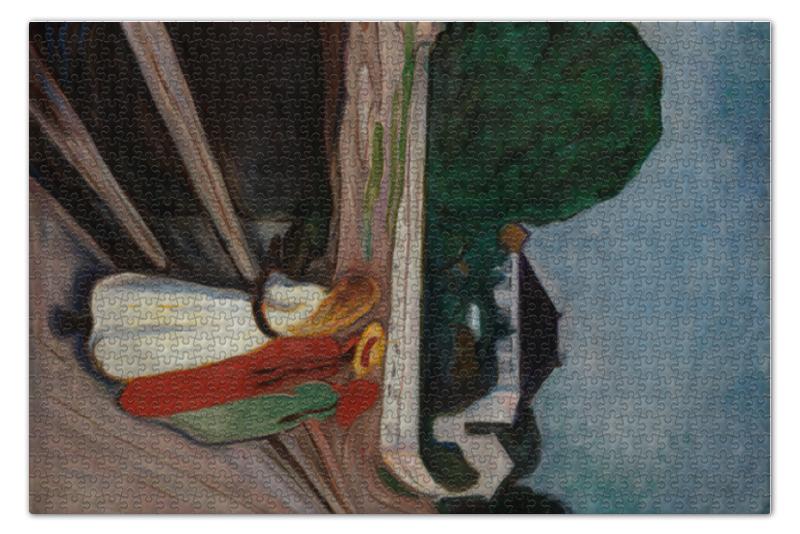 Пазл 73.5 x 48.8 (1000 элементов) Printio Девушки на мосту (картина эдварда мунка) вышивка на аничковом мосту