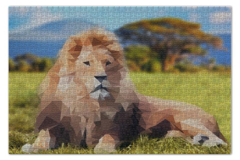 Printio Polygon lion пазл 73 5 x 48 8 1000 элементов printio в парке иван шишкин