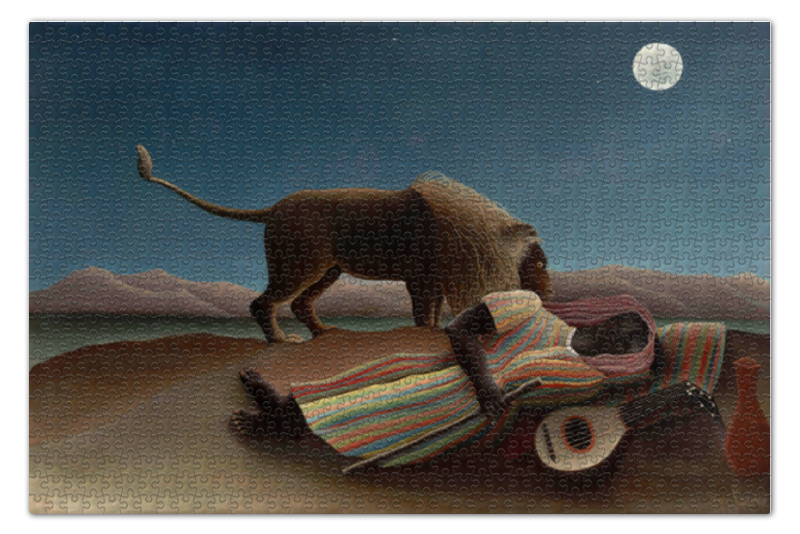 Пазл 73.5 x 48.8 (1000 элементов) Printio Спящая цыганка чехол для iphone 6 глянцевый printio спящая цыганка