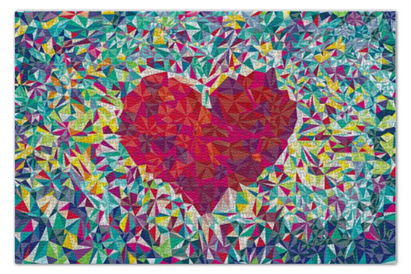 Пазл 73.5 x 48.8 (1000 элементов) Printio Pixel heart пазл 73 5 x 48 8 1000 элементов printio фруктовый сад весной