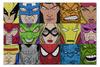 "Пазл 73.5 x 48.8 (1000 элементов) ""Marvel Heroes"" - комиксы, росомаха, железный человек, капитан америка, халк"