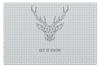 """Пазл 73.5 x 48.8 (1000 элементов) """"Dear Deer"""" - рисунок, дизайн, олень, минимализм, рога"""