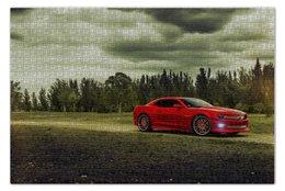 """Пазл 73.5 x 48.8 (1000 элементов) """"Chevrolet camaro"""" - лес, forest, шевроле, камаро, чеви"""
