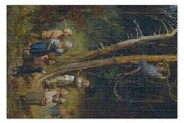 "Пазл 73.5 x 48.8 (1000 элементов) ""ети разоряют гнёзда в лесу (Васнецов)"" - картина, васнецов"