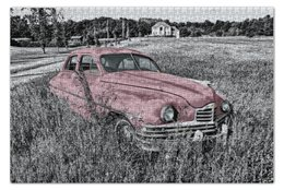 "Пазл 73.5 x 48.8 (1000 элементов) ""Раритет 1"" - автомобиль, машина, ретро, раритет, пейзаж"