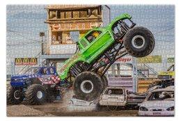 "Пазл 73.5 x 48.8 (1000 элементов) ""Monster trucks"" - offroad, монстр шоу, джипы"
