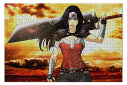 "Пазл 73.5 x 48.8 (1000 элементов) ""Чудо-Женщина (Wonder Woman)"" - комиксы, dc comics, чудо-женщина, justice league, лига справедливости"
