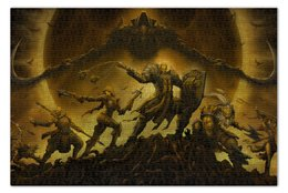 "Пазл 73.5 x 48.8 (1000 элементов) ""Diablo III"" - монах, диабло, крестоносец, близзард, варвар"