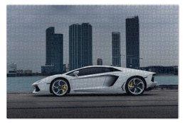 "Пазл 73.5 x 48.8 (1000 элементов) ""Lamborghini aventador"" - ламборгини, ламба, авентадор"