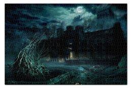 """Пазл 73.5 x 48.8 (1000 элементов) """"Dark House"""" - ночь, дом, полнолуние, особняк"""