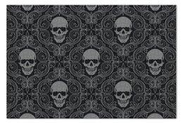 "Пазл 73.5 x 48.8 (1000 элементов) ""Texture skull"" - skull, череп, обои, vector art"
