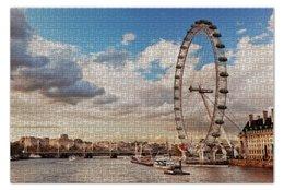 """Пазл 73.5 x 48.8 (1000 элементов) """"Лондон"""" - london, англия, река, темза, thames"""