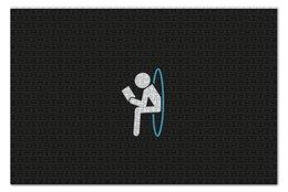 """Пазл 73.5 x 48.8 (1000 элементов) """"Портал"""" - portal, человечек, портал, читает книгу"""