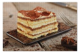 "Пазл 73.5 x 48.8 (1000 элементов) ""Тирамису"" - десерт, пироженое, tiramisù"