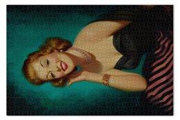 """Пазл 73.5 x 48.8 (1000 элементов) """"Ретро"""" - арт, девушка, кино, картина, мерлин монро"""