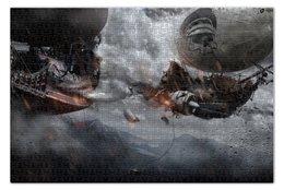 "Пазл 73.5 x 48.8 (1000 элементов) ""Steampunk ships battle"" - пираты, корабль, стимпанк, битва"