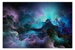 """Пазл 73.5 x 48.8 (1000 элементов) """"Abstract cloud"""" - облака, cloud, северное сияние, буря"""