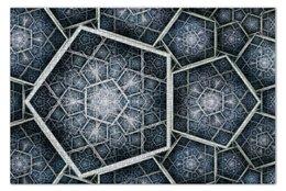 """Пазл 73.5 x 48.8 (1000 элементов) """"Abstract pentagon"""" - петагон, пятиугольник, pentagon"""