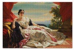 """Пазл 73.5 x 48.8 (1000 элементов) """"Леонилла Витгенштейн (картина Винтерхальтера)"""" - картина, портрет, живопись, винтерхальтер"""