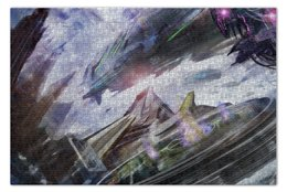 "Пазл 73.5 x 48.8 (1000 элементов) ""Future spaceship"" - space, future, космос, корабль, будущее"