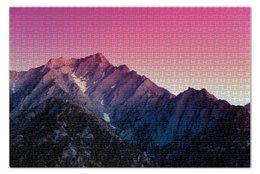 """Пазл 73.5 x 48.8 (1000 элементов) """"Горы Алабама"""" - california, гора, hills, alabama"""