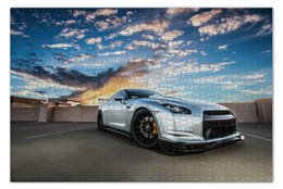"""Пазл 73.5 x 48.8 (1000 элементов) """"Nissan GTR"""" - япония, japan, ниссан"""