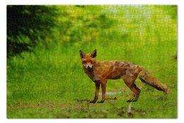 """Пазл 73.5 x 48.8 (1000 элементов) """"Polygon Fox"""" - пейзаж, лиса, полигон"""