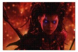 "Пазл 73.5 x 48.8 (1000 элементов) ""Керриган"" - queen of blades, королева клинков, старкрафт, kerrigan, starcraft"