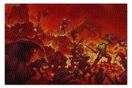 """Пазл 73.5 x 48.8 (1000 элементов) """"Doom  """" - шутер, демоны, дум"""