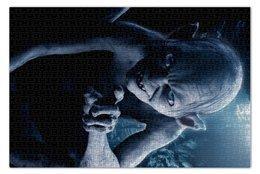 "Пазл 73.5 x 48.8 (1000 элементов) ""Голлум"" - кино, властелин колец, хоббит, прелесть, фродо"